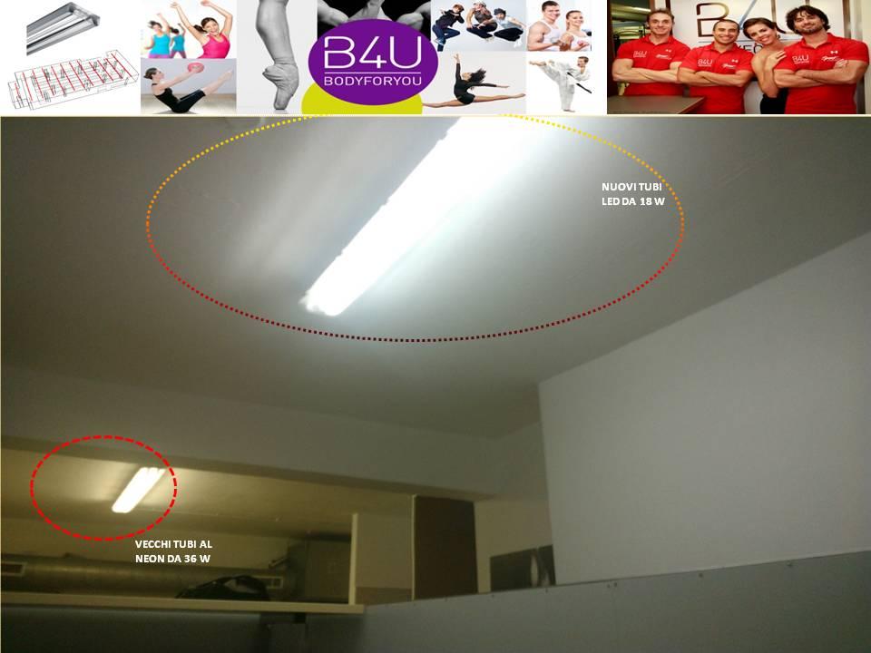 Illuminazione efficiente per la palestra body4you teris energia