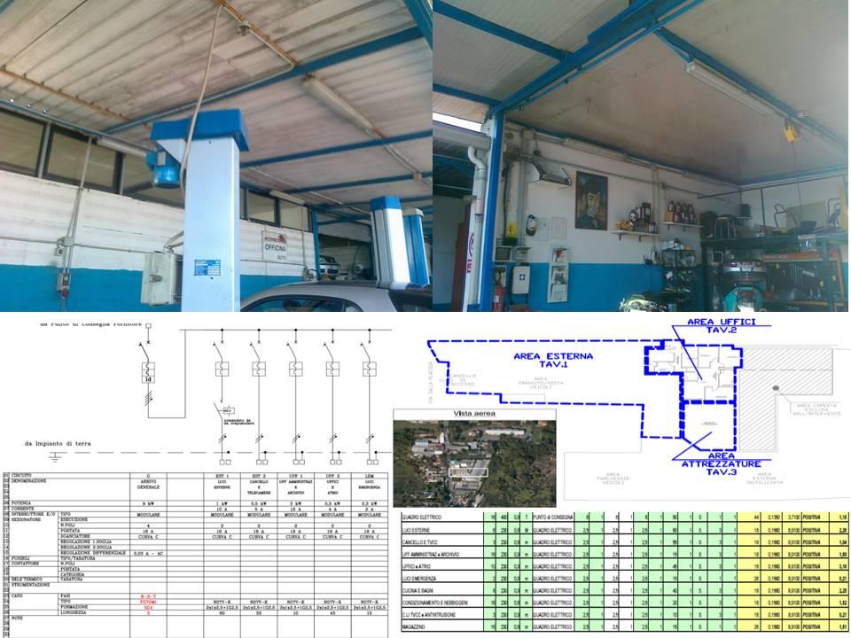 ristrutturazione impianto elettrico officina meccanica